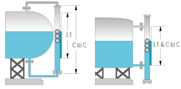 很多行业都需要这样的方式安装磁翻板液位计