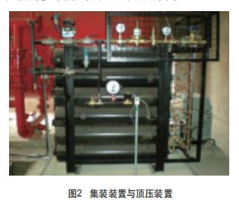 集装装置与顶压装置
