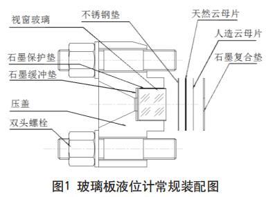 磁性浮子液位计的常规装配图