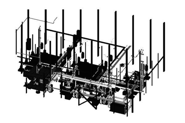 压缩机厂房布置简图