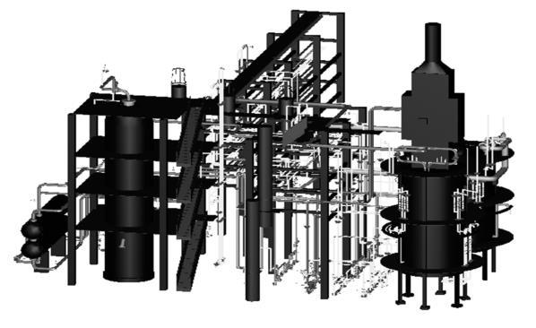 反应器构架布置简图