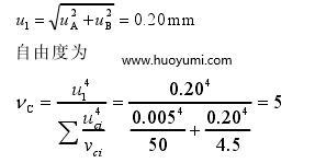 测距仪对校准结果引入的标准不确定度分量 u1